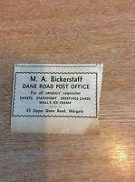 k1-1 ephemera 1961 advert m a bickerstaff dane road post office margate