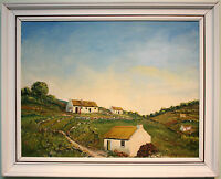 Original Oil Painting IRISH FARM COTTAGES by Ireland Artist MATT MCWHIRTER