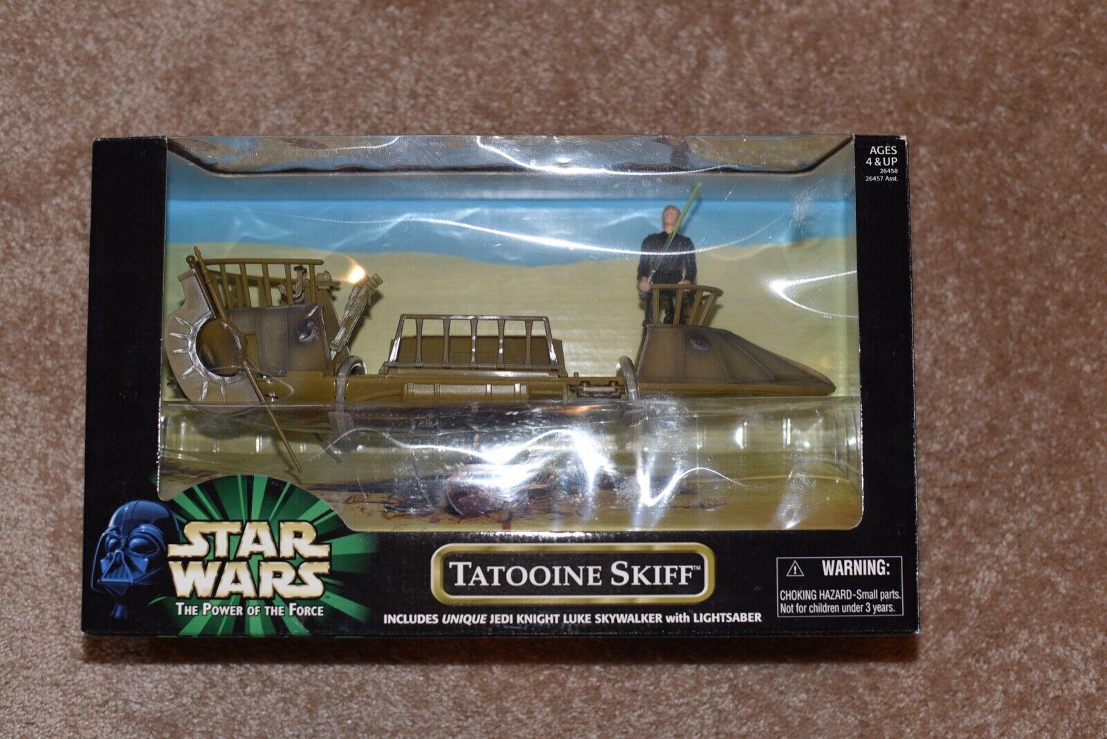 Star Wars - Power of the Force - Tatooine Skiff - NISB