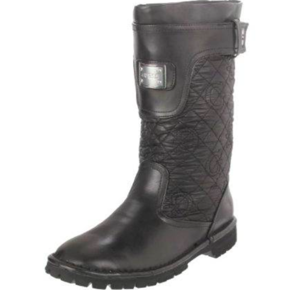 120 Brand New in Box Guess JuneBug Quilted Mid Boots shoes Heels Black