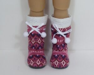 "LT BLUE Faux Fur Boots SM Doll Shoes For Sonja Hartmann 18/"" Kidz n Cats Debs"