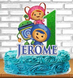 Fantastic Team Umizoomi Cake Topper Ebay Personalised Birthday Cards Arneslily Jamesorg