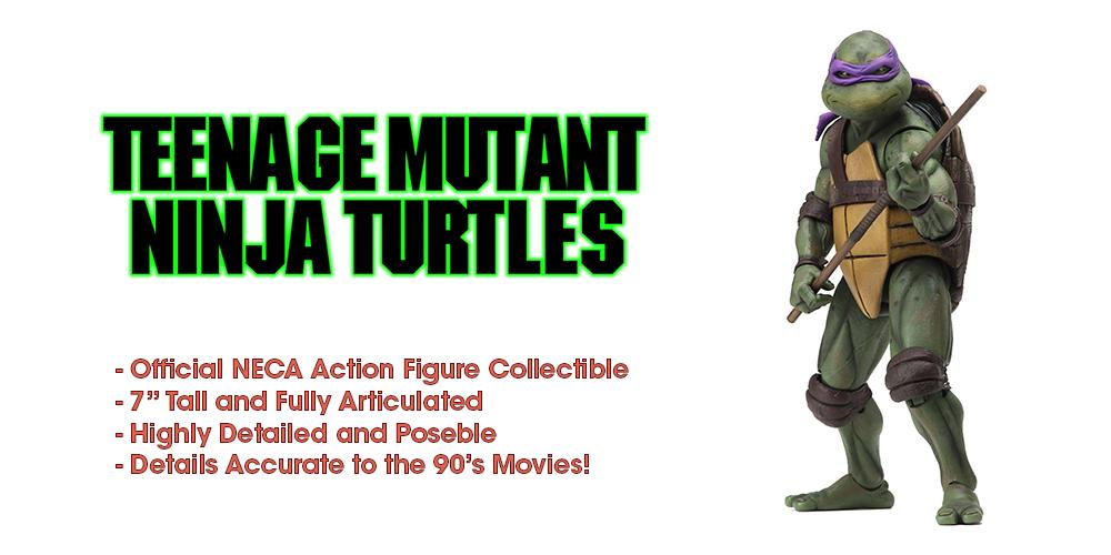 Teenage mutant ninja turtles 90 film donatello action - figur 7  - skala - neca