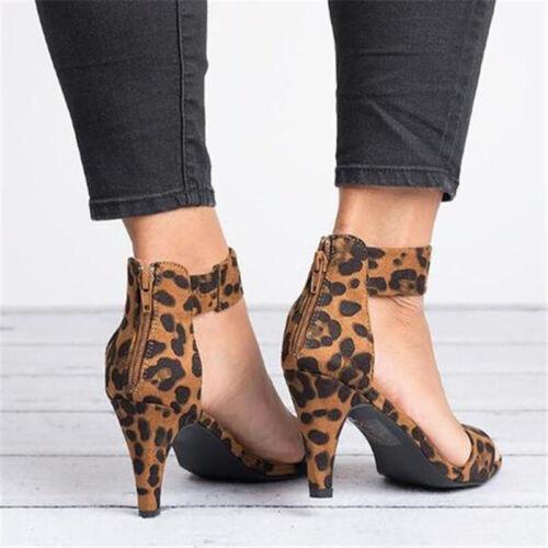 Women/'s Low Mid Heels Comfy Ladies Ankle Strap Sandals Zipper Smart Casual Shoes