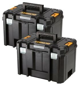 Dewalt-DWST1-71195-TSTAK-VI-Deep-Tool-Storage-Case-Heavy-Duty-23L-TWIN-PACK