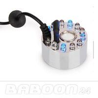 Wasservernebler, Ultraschall Zerstäuber, Wasser Vernebler mit 12 LEDs + Netzteil