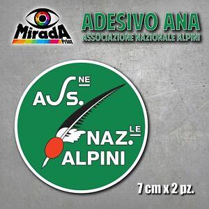 Adesivo Sticker Ana Associazione Nazionale Alpini Reggimento Raduno Auto Moto Facile à Utiliser