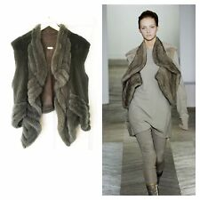 RICK OWENS REVILLON HAUTE COUTURE DUST MINK FUR VEST JACKET (42)