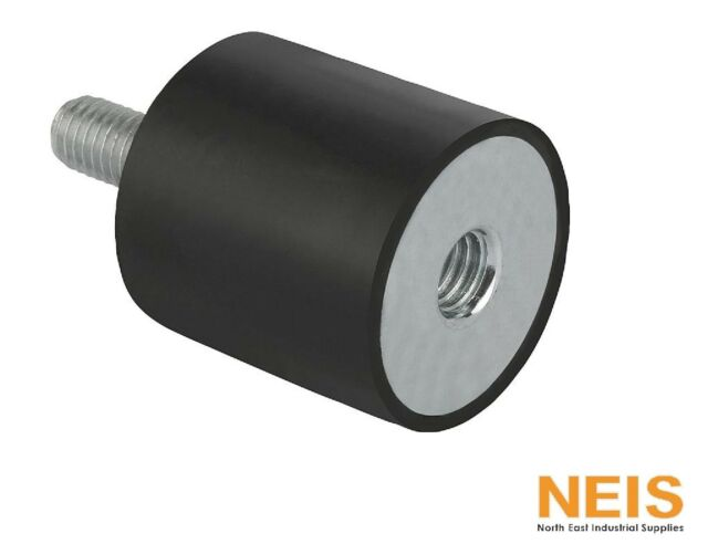 Rubber Buffer / Anti-Vibration Mount With Internal and External Thread M3 - M12