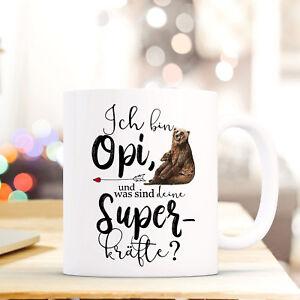GroßZüGig Tasse Becher Kaffeebecher Opi Deine Superkräfte & Bärenmotiv Geschenk Ts851 Tassen