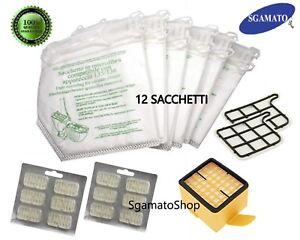 Folletto VK 135 136 12 sacchetti 6 profumi 1 filtro griglia 1 HEPA adattabile