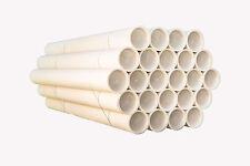 24 tubi CARTONE CON TAPPO PLASTICA SPEDIZIONI POSTALI ALT75x6cm DIAMETRO BIANCHI