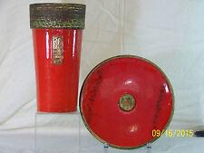 Gilbert Portanier Master Ceramist Mid Century French Art Pottery Vase/Charger