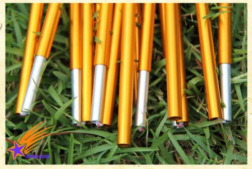7.9//8.5mm*360//404//442cm Outdoor Camping Hiking Travel Aluminum Alloy Tent Poles