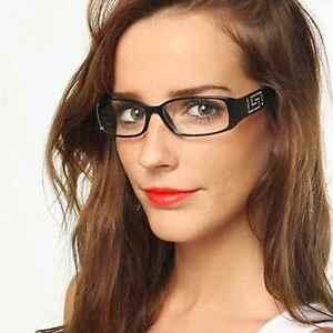 mejor sitio web 0f04f c1669 Detalles de Trendy Rectangular Gafas Lentes Transparentes Marco de Plástico  Piedras Mujer