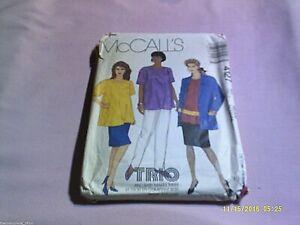 McCall-Pattern-4127-Medium-14-16-Womens-Jacket-Top-Skirt-Pants-Sash-Sewing