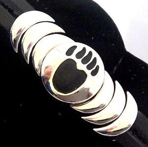 Image Is Loading Epic Spirit Bracelets Wheeler Bear Paw Leather Pewter
