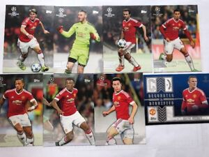 2015-16-Topps-Champions-League-Showcase-Manchester-United-8-Card-Team-Set