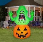 Gemmy Ghostbusters LED Airblown Slimer on Pumpkin Halloween-4.5ft Inflatable