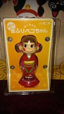 "AUTH Japan FUJIYA Milky Candy 3.5"" Peko Chan Kimono Bobble Head Doll Toy Figure"
