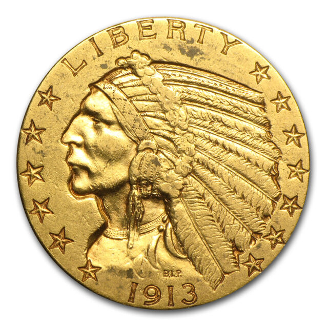 $5 Indian Gold Half Eagle Coin - Random Year - Extra Fine - SKU #7229