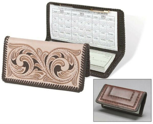 FREE SHIPPING in USA! CHECKBOOK COVER LEATHER KIT by TANDY