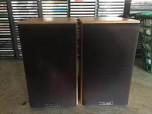 Pair-Mission-MS-50-Hi-Fi-2-Way-50W-Stereo-Bookshelf-Speakers-w-Wood-Trim