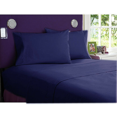 1000 TC EGYPTIAN COTTON COMPLETE BEDDING COLLECTION IN ALL SET & NAVY blueE COLOR