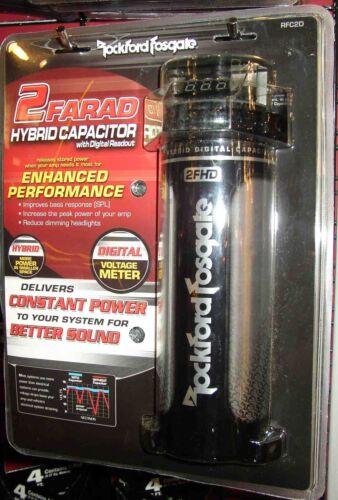Rockford Fosgate RFC2D 2 Farad Digital Capacitor