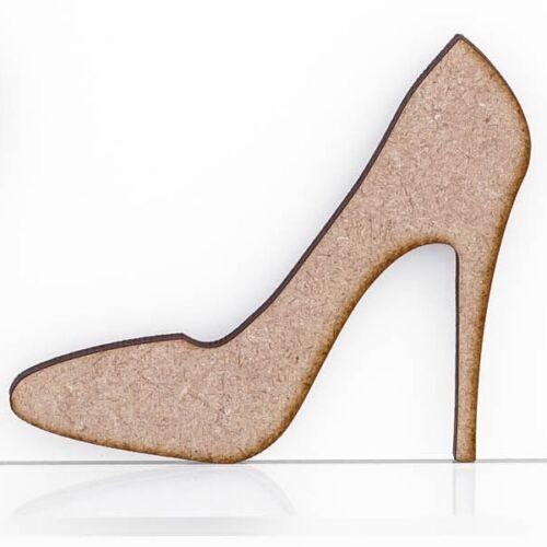 Madera Mdf 3mm de espesor Zapatos Stilettos Adorno en blanco diseño de placa de pared