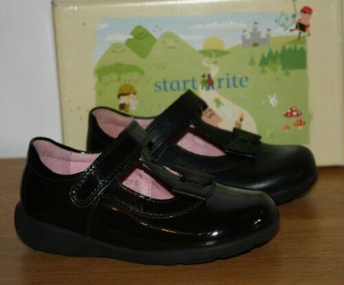 Start-rite Girls Alpha Black Leather or Patent School Shoes Various Sizes BNIB