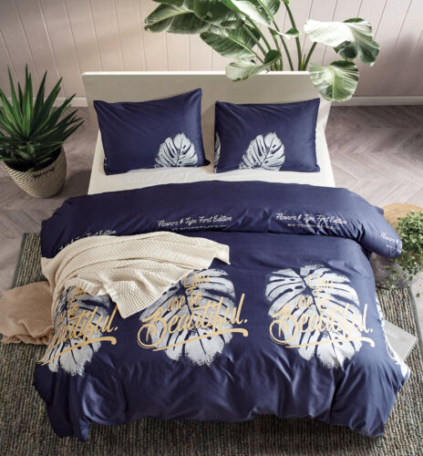 Flower Print Duvet Cover with Pillow Case Quilt Cover Bedding Set All US Size