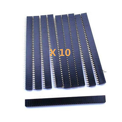10* New 40Pin 2.54mm Single Row Straight Female Pin Header Strip PBC Ardunio