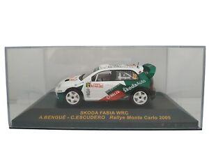 1-43-SKODA-FABIA-WRC-2005-BENGUE-RALLYE-IXO-RALLY-CAR-COCHE-METAL-ESCALA-DIECAST