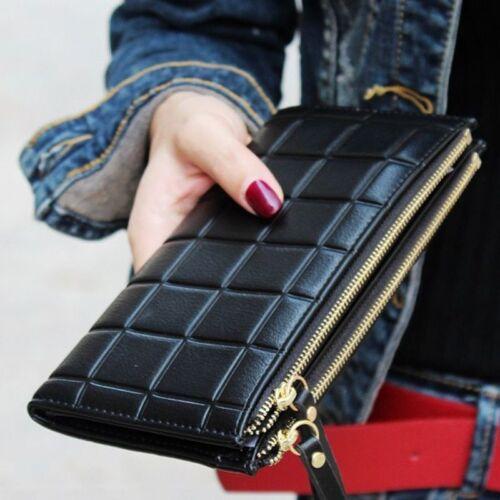 Fashion Long Women Wallet Female Clutch With Double Zipper Coin Purse Phone Case