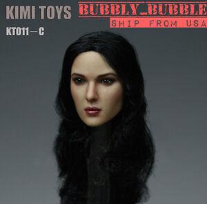 【IN STOCK】1//6 BLACK Hair Female Head Sculpt KIMI KT011C for 12/'/' PALE Phicen