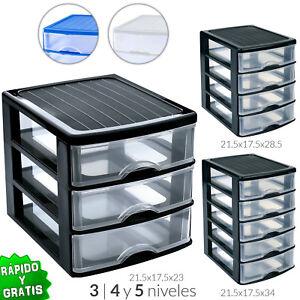 Cajonera 3 4 5 plastico organizador almacenamiento - Cajonera de oficina ...