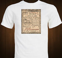 One Third Of A Dollar 1776 Continental Currency Benjamin Franklin T-shirt