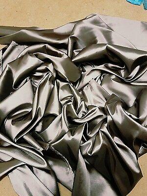 "10M black GOLD SHIMMER  DRESS CHIFFON FABRIC 58/"" WIDE NEW"