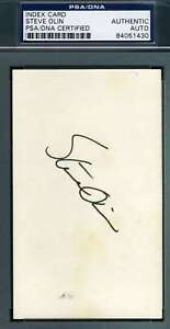 Steve Olin Psa Dna Coa Autograph 3x5 Index Card Hand Signed Authentic