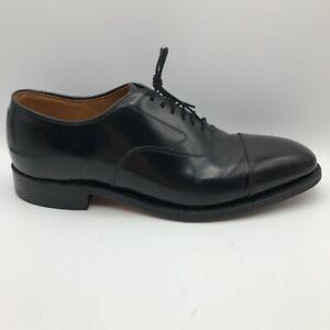 Johnston & Murphy  Optima Mens Melton Oxford Dress Shoes Black Leather 9.5 D