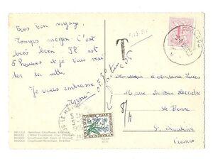 Carte Postale De Belgique Taxée 0,30 F En 1965 Pour La France