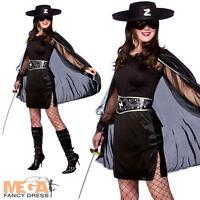 Bandit Beauty Ladies Fancy Dress Mask of Zorro Mexican Womens Halloween Costume