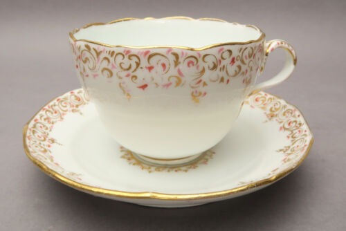 Royal Copenhagen Kaffeegedeck Tasse UT Goldrand Rosa Gold Dekor wohl 1800?