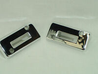 1969 Camaro Bucket Seat Chrome Headrest Escutcheon Set Show Quality