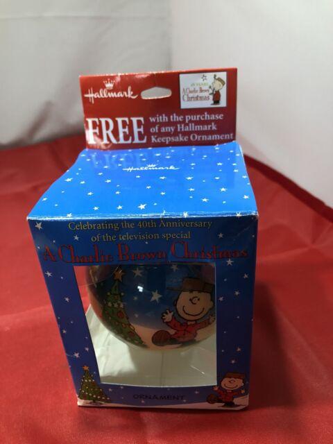 Hallmark Ornament: A CHARLIE BROWN CHRISTMAS - 40th Anniversary New In Box