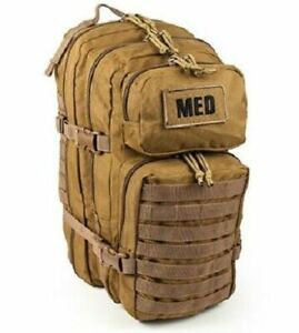 ELITE FIRST AID Tactical Trauma Kit #3 STOCKED w/ Backpack Medic Survival TAN