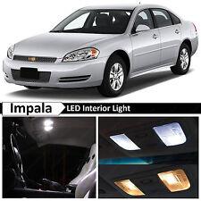 18x White LED Lights Interior Package Kit for 2006-2013 Chevrolet Impala