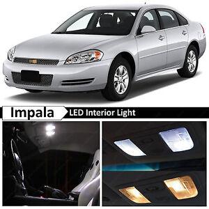 18x White Led Lights Interior Package Kit For 2006 2013 Chevrolet Impala Ebay