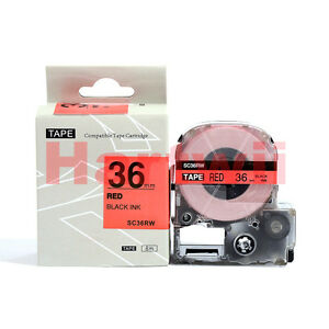 EPSON36mm LC-7RBP Compatible Standard LC Label Tape  Black on Red 36mm 8m  LW700